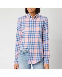 Polo Ralph Lauren Checked Cotton Shirt - Pink
