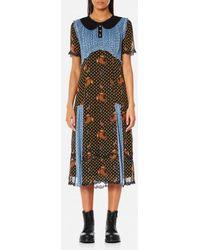 COACH - Women's Pretty Mix Dress - Lyst