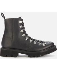 Grenson Nanette Vegan Hiking Style Boots - Black