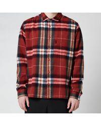 YMC Wool Check Curtis Shirt - Red