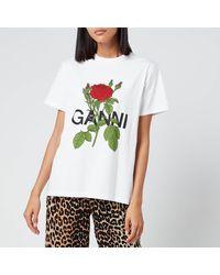 Ganni Rose T-shirt - Multicolour