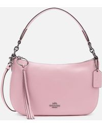 COACH Polished Pebble Leather Sutton Cross Body Bag - Pink