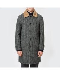 Oliver Spencer - Men's Beaumont Sheepskin Collar Coat - Lyst