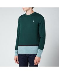 PS by Paul Smith Zebra Badge Pullover Jumper - Green