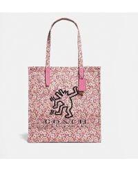 COACH - Women's Coach X Keith Haring Print Tote Bag - Lyst