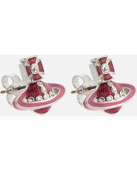 Vivienne Westwood Regina Small Bas Relief Earrings - Multicolour