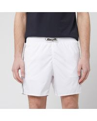 Emporio Armani Logo Tape Boxer Swim Short - White