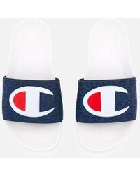 Champion Women's Pool Slide Sandals - White