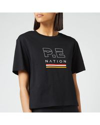 P.E Nation Ignition Cropped Short Sleeve T-shirt - Black