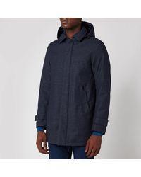 Herno Laminar Hooded Car Coat - Blue