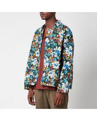 YMC Labour Organic Ripstop Flower Print Jacket - Multicolour