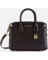 MICHAEL Michael Kors Mercer Small Leather Handbag - Black