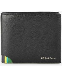 PS by Paul Smith Ps By Paul Smith Signature Stipe Billfold Wallet - Black