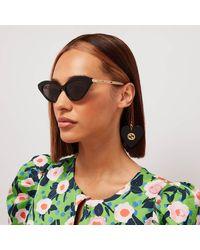 Gucci GG0978S Metal And Acetate Cat-eye Sunglasses - Black