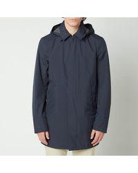 Herno Gore 2l Detachable Hood Lightweight Carcoat - Blue