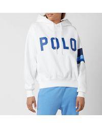Polo Ralph Lauren Polo Logo Relaxed Hoodie - White