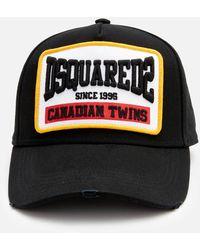 DSquared² Large Logo Baseball Cap - Black