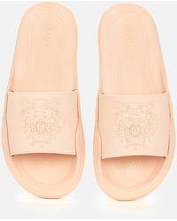 KENZO Tiger Slide Sandals - Natural