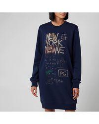 COACH Coach X Jean Michel Basquiat Untitled 1980 Crew Dress - Blue