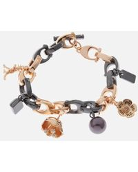 COACH - Charming Links Multi Charm Bracelet - Lyst