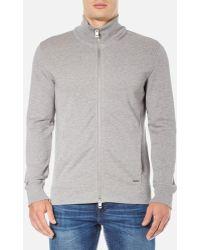 BOSS Orange - Men's Zissou Zipped Sweatshirt - Lyst