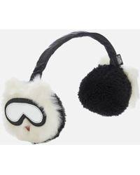 Karl Lagerfeld Holiday Faux Fur Earmuffs - White