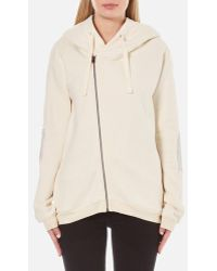 Maison Scotch - Women's Home Alone Double Hooded Sweatshirt With Zip Closure - Lyst