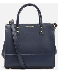 Lulu Guinness - Women s Mini Daphne Textured Leather Square Cross Body Bag  - Lyst 7295e8097e