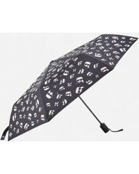 Karl Lagerfeld - Women's K/ikonik Faces Umbrella - Lyst