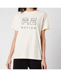 P.E Nation Heads Up T-shirt - Natural