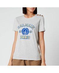 Balmain - 3 Button University T-shirt - Lyst