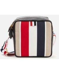 Thom Browne Military Canvas Stripe Cross Body Bag - Multicolor