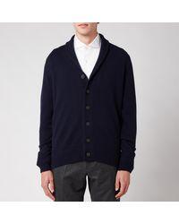 John Smedley Cullen Shawl Collar Jacket - Blue