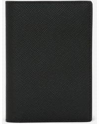 Smythson Panama Passport Cover - Black