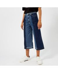 McQ - Women's Denim Culottes Jeans - Lyst