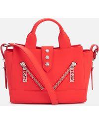 KENZO Kalifornia Mini Leather Satchel - Red