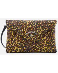Vivienne Westwood Anglomania - Women's Leopard Envelope Bag - Lyst
