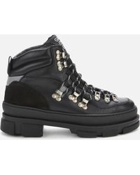 Ganni Sporty Hiking Style Boots - Black