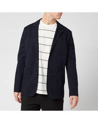 KENZO Casual Two Button Jacket - Blue