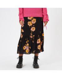 McQ - Women's Volume Midi Skirt - Lyst