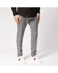 DSquared² Cigarette Fit Houndstooth Trousers - Black