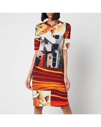PS by Paul Smith Printed Photoprint Dress - Multicolour