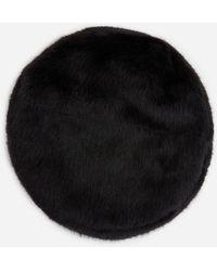 Stand Studio Freja Faux Fur Beret - Black
