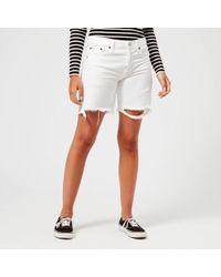 Polo Ralph Lauren Boyfriend Shorts - White
