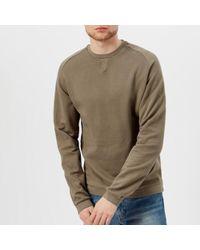 Universal Works - Men's Crew Neck Loop Back Jersey Sweatshirt - Lyst