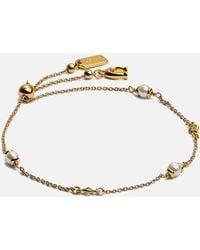 COACH Classic Pearl Bracelet - Metallic