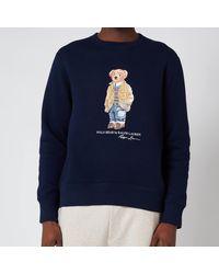 Polo Ralph Lauren Magic Fleece Polo Bear Sweatshirt - Blue