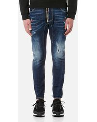 DSquared² - Men's Tidy Biker Swallow Detail Jeans - Lyst