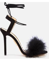 Charlotte Olympia Salsa Feather Sandals - Black