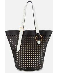 Diane von Furstenberg East/west Belted Perforated Tote Bag - Black